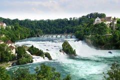 Rhinefall, Sciaffusa, Svizzera Immagine Stock Libera da Diritti