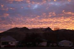 Rhinehart Butte sunrise stock image