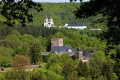 Rhineland-Palatinate,View of langenau castle and arnstei Royalty Free Stock Images