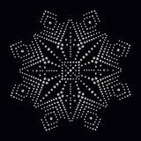 Rhinestone applique print for textile clothes in fashion luxury Stock Photography