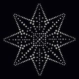 Rhinestone applique print for textile clothes in fashion luxury Royalty Free Stock Photography