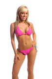 Rhinestone-Bikini-Blondine Lizenzfreies Stockbild