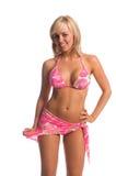 Rhinestone-Bikini-Blondine lizenzfreies stockfoto