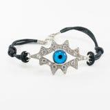 Rhinestone bracelet with eye Royalty Free Stock Image