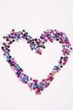 Rhinestone fashion background. Heart shape Royalty Free Stock Photos