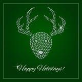 Rhinestone Holiday Season Template Stock Photos
