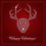 Rhinestone Holiday Season Template Royalty Free Stock Images