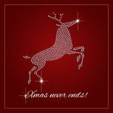 Rhinestone Holiday Season Template Royalty Free Stock Image