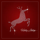 Rhinestone Holiday Season Template Royalty Free Stock Photography