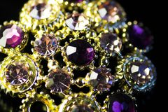 Rhinestone jewelry Stock Images