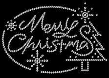 Rhinestone Merry Christmas vector illustration