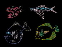 Rhinestone picture of group of fish. Stock Image