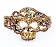 Rhinestone Skull Bracelet Royalty Free Stock Image