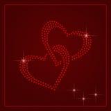 Rhinestone Valentines Day Template Stock Image