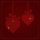 Rhinestone Valentines Day Template Stock Photos