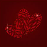 Rhinestone Valentines Day Template Royalty Free Stock Image