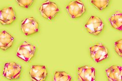 Rhinestones on background with copy space Royalty Free Stock Images