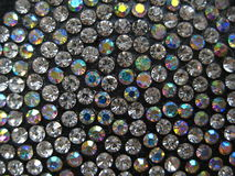 Rhinestones closeup in circle. Shine Stock Image