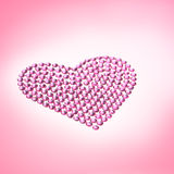 Rhinestones in form of a heart Stock Photos
