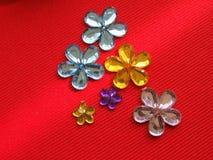Rhinestones formados flor Fotos de archivo