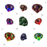 Rhinestones on a white background Royalty Free Stock Images