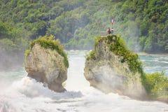 Rhinfall瀑布在沙夫豪森,瑞士 免版税库存照片