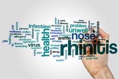 Rhinitis word cloud Royalty Free Stock Image