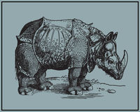 Rhino. From Africa. Additional vector format Illustrator 8 eps stock illustration