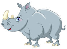 Rhino. Cartoon illustration of a rhino royalty free illustration