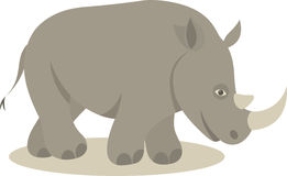 Rhino. Vector illustration of grey rhino Stock Image