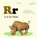 Rhino with alphabet Royalty Free Stock Photography
