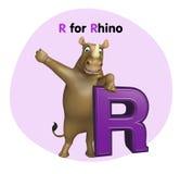 Rhino with alphabet Stock Image