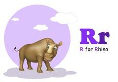 Rhino with alphabet Stock Images