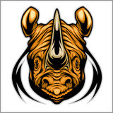 Rhino athletic design complete with rhinoceros mascot vector illustration Stock Photo