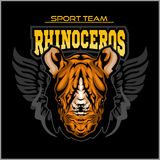 Rhino athletic design complete with rhinoceros mascot vector illustration Royalty Free Stock Photos