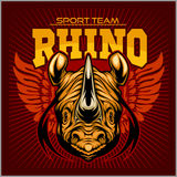Rhino athletic design complete with rhinoceros mascot vector illustration Royalty Free Stock Image