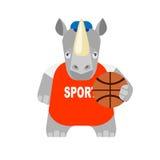 Rhino   basketball player Royalty Free Stock Photo