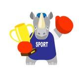 Rhino  boxer winner Stock Photo