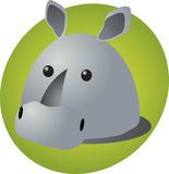 Rhino cartoon Stock Photo