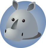 Rhino cartoon Stock Photography