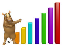 Rhino cartoon character with graf Royalty Free Stock Photography