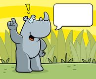 Rhino Comment. A cartoon rhino talking in the jungle Royalty Free Stock Photos