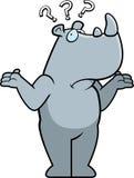 Rhino Confused Stock Image