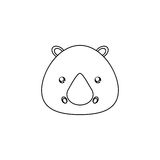 Rhino Drawing Face Royalty Free Stock Images
