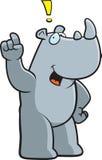 Rhino Exclamation Royalty Free Stock Photo