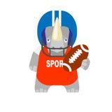 Rhino football player Royalty Free Stock Image