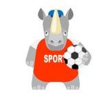 Rhino football player Stock Photography