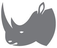 Rhino head. Rhino design, rhino head, rhino symbol Stock Image