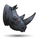 Rhino head. Illustration in vector royalty free illustration