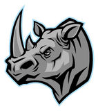 Rhino head mascot. Vector of rhino head mascot vector illustration